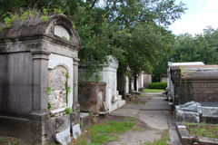 Row Of Crypts Stock Images