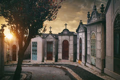 Row of Crypts Royalty Free Stock Images