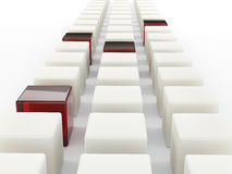 Row of cubes Stock Photography
