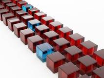Row of cubes Stock Photos