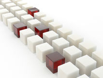 Row of cubes Stock Images