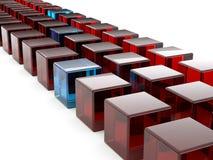 Row of cubes Stock Photo