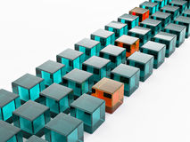 Row of cubes Royalty Free Stock Photography