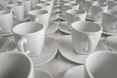 Row of cup for Business Seminar. Row of coffee cup for Business Seminar Royalty Free Stock Images