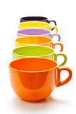 Row of cups Stock Photography