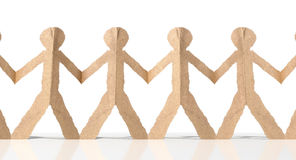 Row Of Cutout Paper Cardboard Men Royalty Free Stock Photo