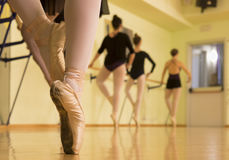 Row of dancers Royalty Free Stock Images