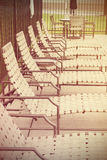 Row of deck chairs Royalty Free Stock Photography
