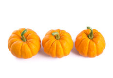 Row of decorative orange pumpkins Stock Photo