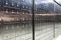 Row of a deposit safe Stock Image