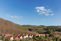 Row of detached houses in Wernigerode Royalty Free Stock Images