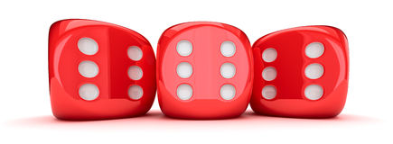 Row of dice Royalty Free Stock Photography