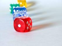 Row of dice Royalty Free Stock Photo