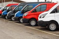 Used van sales stock image