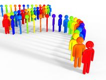 Row of different people Royalty Free Stock Images