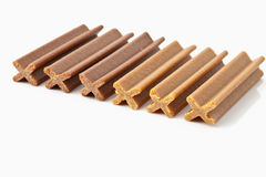 Row of dog food Royalty Free Stock Photography
