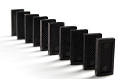 Row of domino Stock Photo