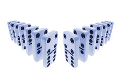 Row of Dominoes Stock Image