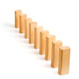 Row of dominoes Stock Images