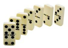 Row of dominos Stock Photo
