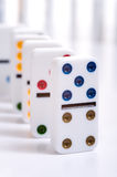 Row of Dominos Royalty Free Stock Images