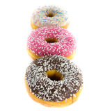 Row of donuts Stock Image