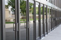 Row of Doors royalty free stock image