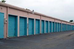 Row of doors in perspective Stock Photography