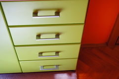 Row of drawers Stock Photography