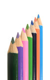 Row of drawing pencils Stock Photography