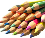 Row of drawing pencils Royalty Free Stock Photos