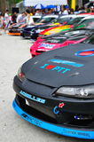 Row of drift cars at Formula Drift 2010 Stock Image