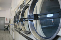 Row of dryers Stock Photos