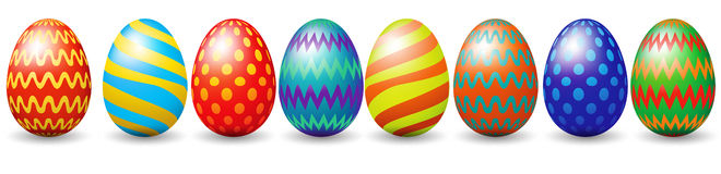 Row of easter eggs Royalty Free Stock Photos