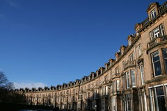 Row of Edinburgh Houses Royalty Free Stock Photography