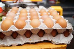 A row of egg Stock Image