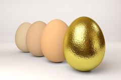 Row of the eggs Stock Photography