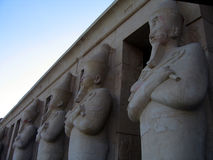 Row of Egyptian columns Royalty Free Stock Images