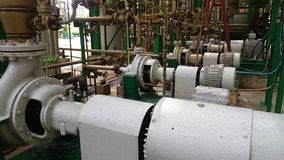 A row of electric motors for water pumps industry. Row of electric motors for water pumps industry stock photography