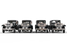 Row of elegant vintage cars Royalty Free Stock Images