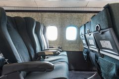 Old Airplane Seats royalty free stock photo