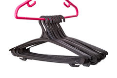 Row empty hangers Royalty Free Stock Photography