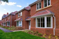 Row of empty new houses Royalty Free Stock Photography
