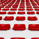 Row of Empty Red Stadium Royalty Free Stock Photos