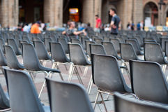 Row of empty seats Stock Photography
