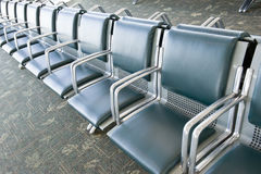 Row of Empty Seats in Airport Royalty Free Stock Image