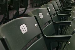Empty seats in stands Royalty Free Stock Photography