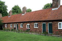 Row of estate cottages. Stock Photo
