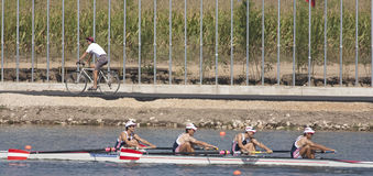 ROW: The European Rowing Championships Royalty Free Stock Photo