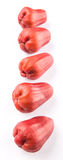 Row Exotic Rose Apple Fruit III Royalty Free Stock Image